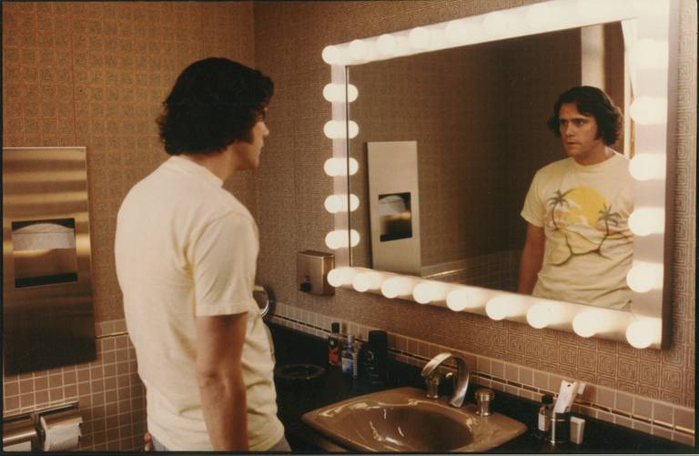 Jim Carrey como Andy Kaufman, en el film de Milos Forman