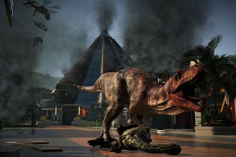 Jurassic World Evolution está disponible para Windows 10, PlayStation 4, Xbox One y Nintendo Switch