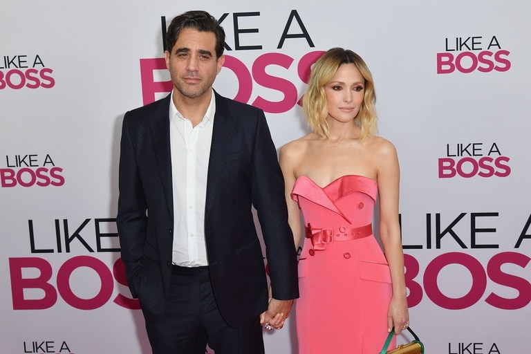 "Australian actress Rose Byrne (R) and US actor Bobby Cannavale attend the world premiere of ""Like A Boss"" at SVA Theater on January 7, 2020 in New York City. (Photo by Angela Weiss / AFP)"