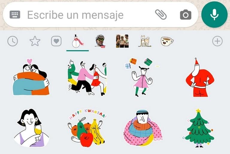 WhatsApp cuenta con una serie de stickers oficiales para celebrar Navidad y Año Nuevo sin necesidad de instalar aplicaciones externas
