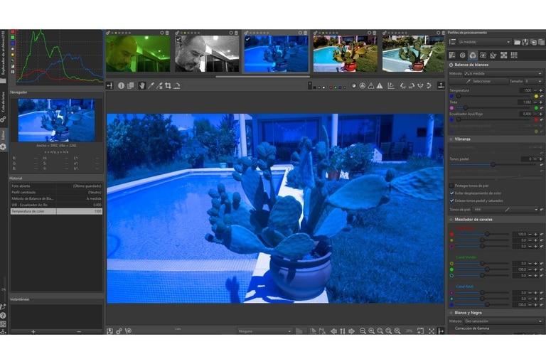 Captura de pantalla de RAW Therapee, otro gran programa de software libre para procesar negativos digitales