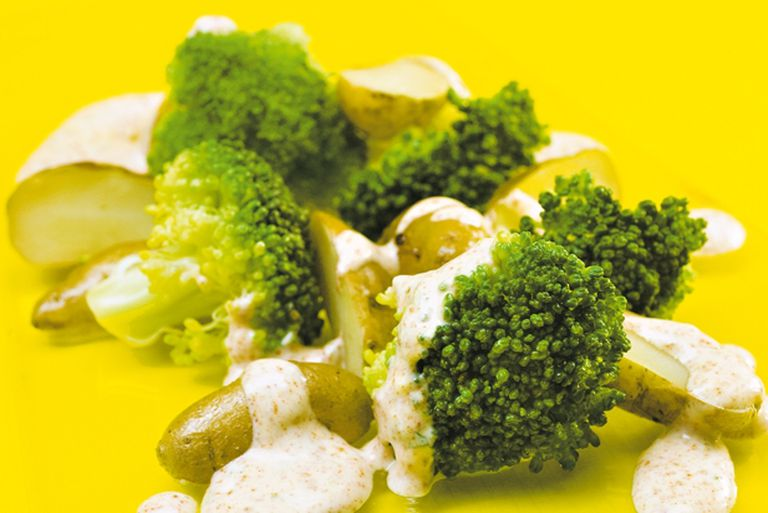 Broccoli  y papines crocantes