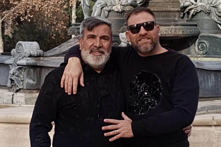 Beto y Ariel, durante uno de sus viajes