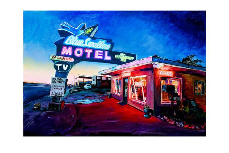 Blue Swallow Motel, Route 66, 2019