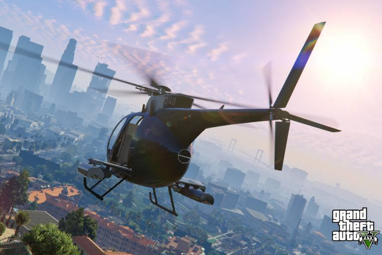 Una vista del GTA V para PS4 y Xbox One