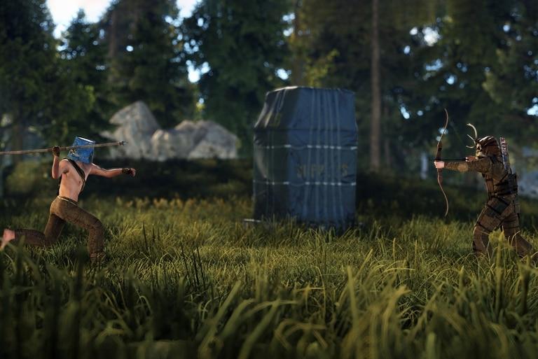 Una captura de pantalla del videojuego Rust