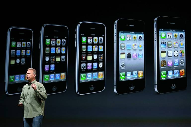 Phil Schiller, vicepresidente de marketing de Apple, presenta el iPhone 5