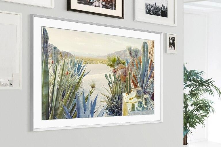 La versión 2021 de The Frame, el televisor de Samsung que se parece a un cuadro, y que muestra pinturas cuando está en espera