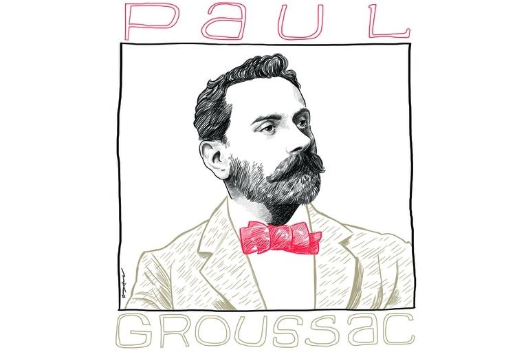 Retrato de Paul Groussac ilustrado por Max Aguirre
