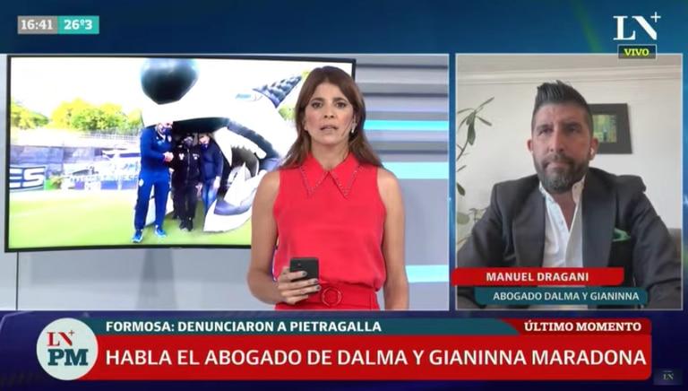 Manuel Dragani, el abogado de Claudia, Dalma y Gianinna Maradona en la causa que investiga la muerte del Diez